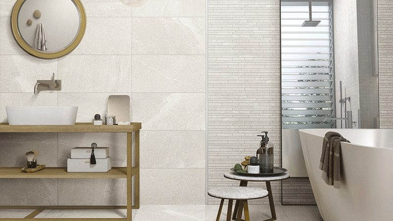 Enhance the look and feel of the space with impressive tiles